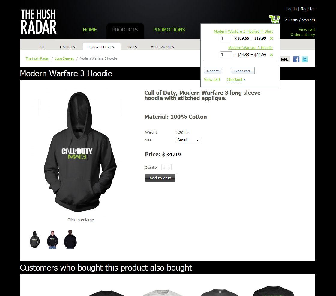 hush-radar-shopping-cart-preview