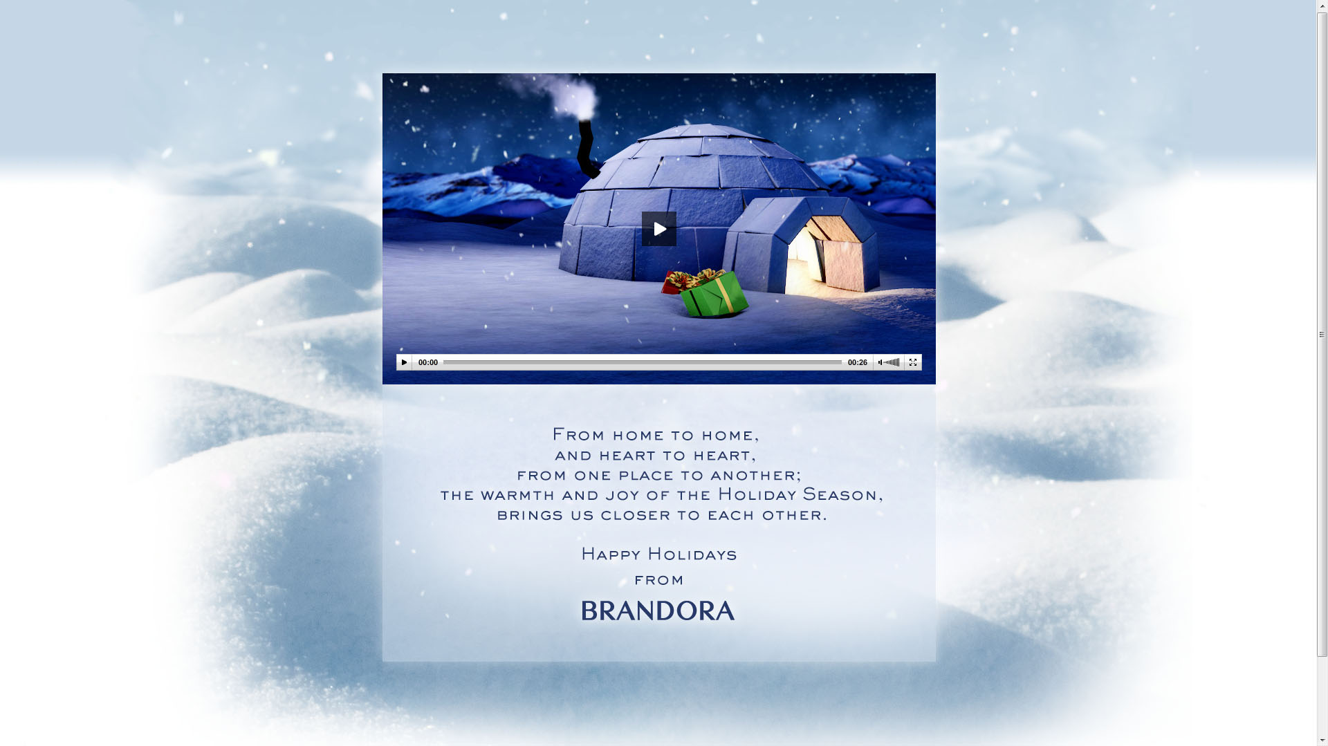 Brandora Christmas Ecard 2012 Landing Page