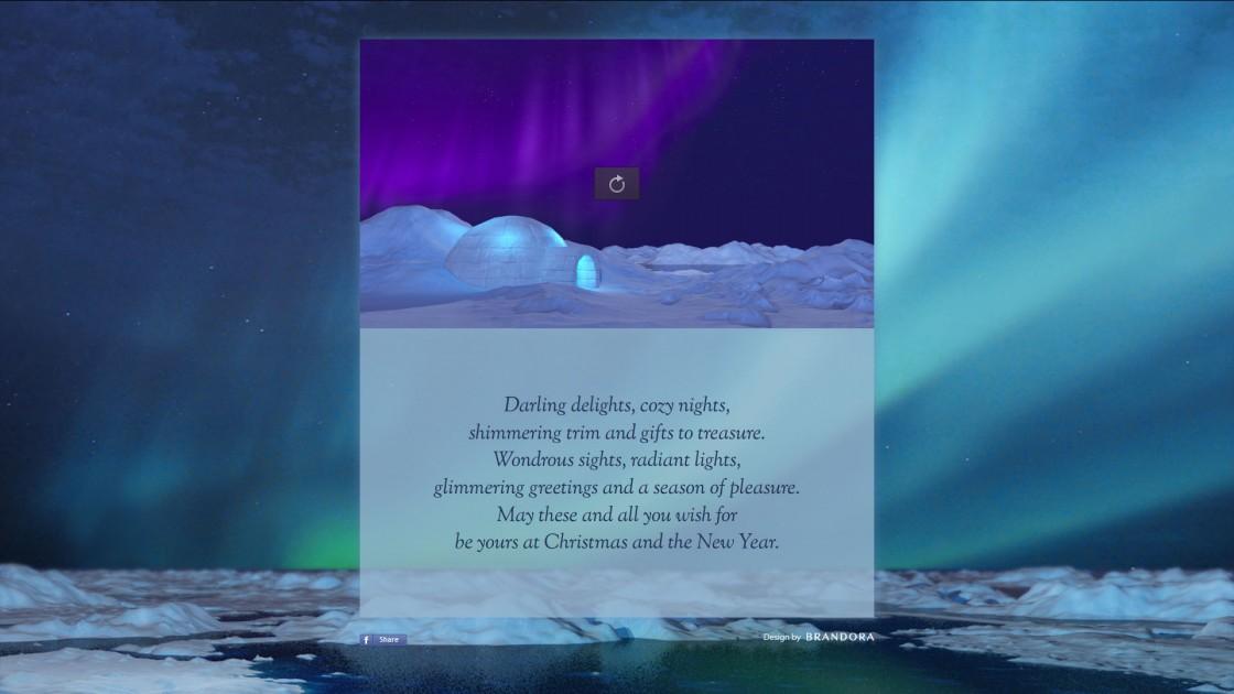 2014 Brandora Arctic Holiday Ecard Landing Page