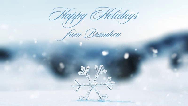 Crystal Snowflake Holiday Ecard