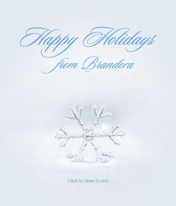 2011 Brandora Snowflake Holiday Ecard Email