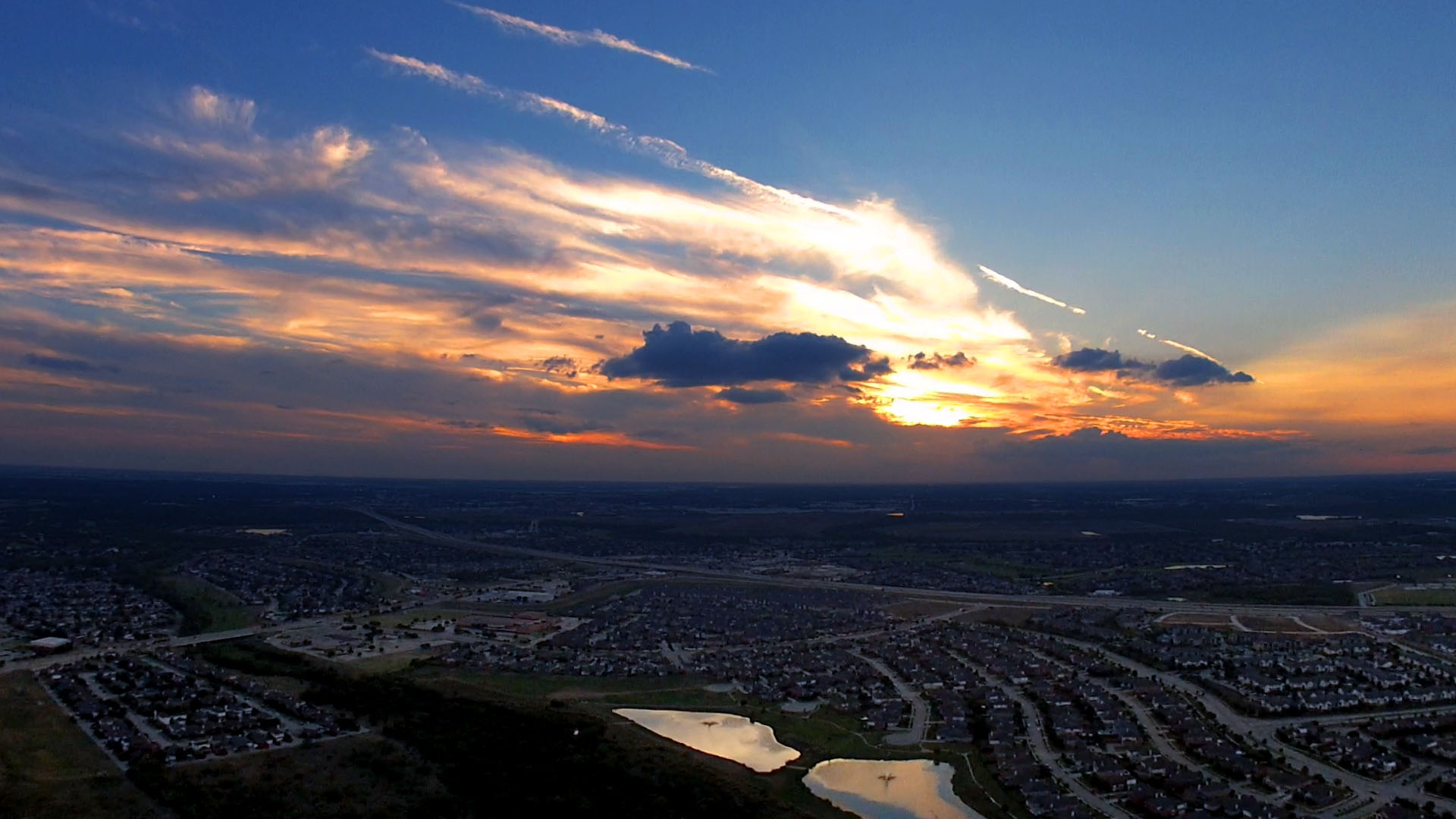 DJI Phantom 2 - GoPro 4 Sunset Photo