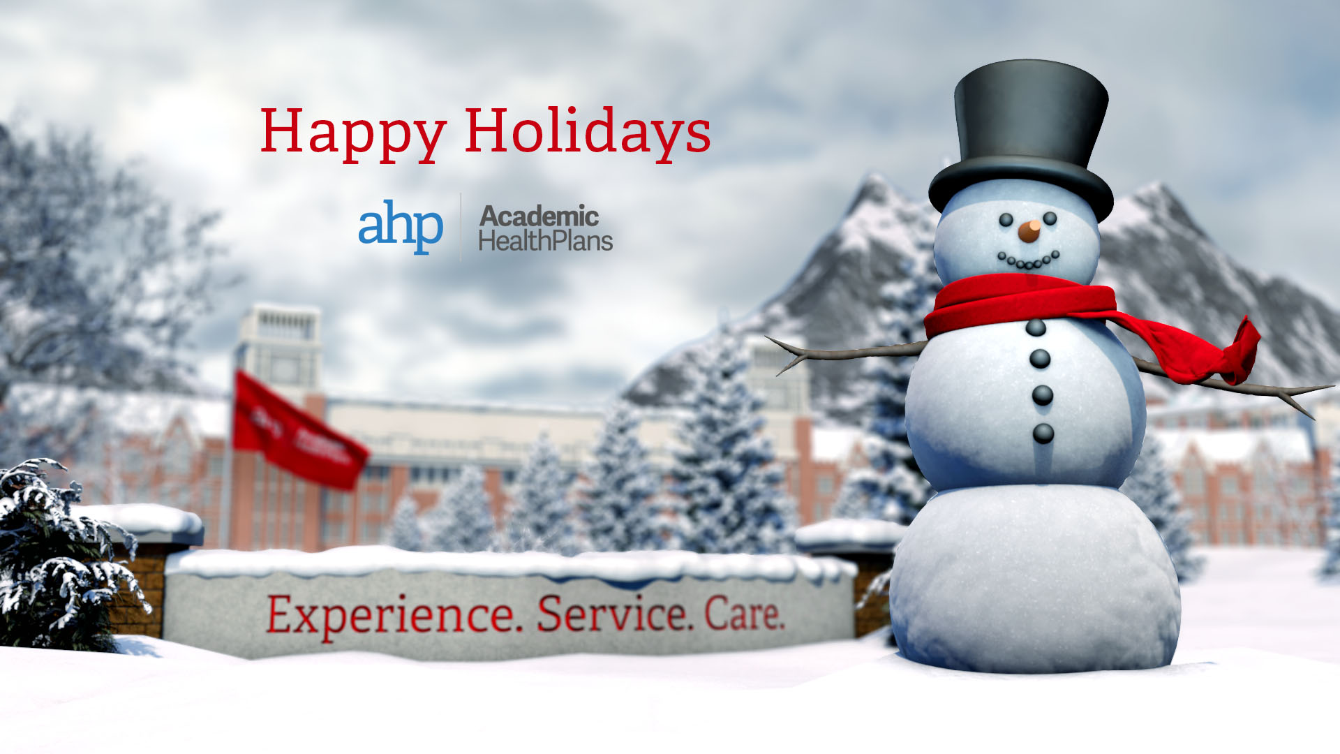 AHP University Snowman Holiday Ecard