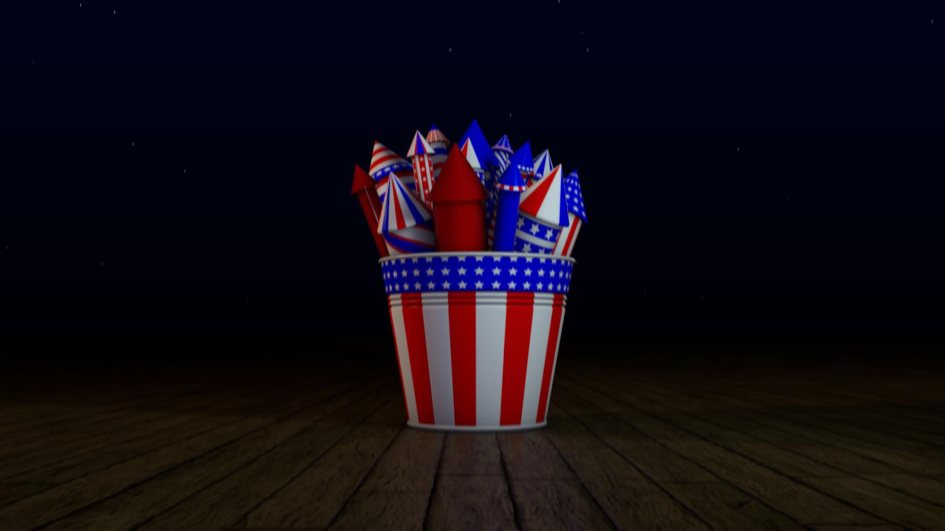 Rocket Fireworks Ecard