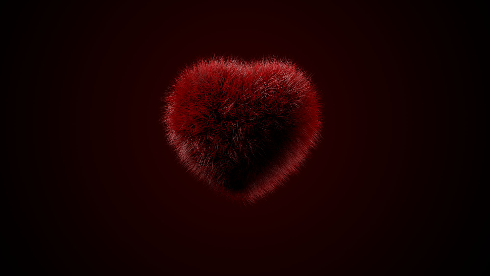 Valentine's Day Hairy Heart Ecard